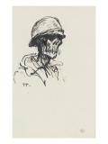 Tête de mort casquée, de trois quarts à droite Giclee Print by Théophile Alexandre Steinlen