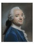 Autoportrait au jabot de dentelle Giclee Print by Maurice Quentin de La Tour