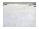 Schneelandschaft, paisaje de nieve, también llamado Grosser Winter, gran invierno. Lámina giclée por Cuno Amiet