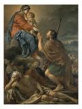 Saint Roch Interceding Virgin for Predicting Plague Giclee Print by Jacques-Louis David