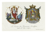 Seal of the Kingdom of Cisalpine and Napoleon Crowned Giclee Print