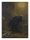 Saint Benoît en extase Giclee Print by Jean Restout