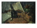 Nature morte au violon Giclee Print by Hans Makart