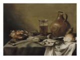 Nature morte au verre de bière Lámina giclée por Pieter Claesz
