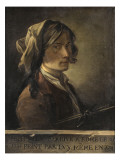 Autoportrait du peintre Joseph-Marie Vien jeune, exécuté à Rome en 1745 (-1809) Giclée-Druck von Joseph Marie Vien