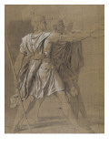 Study for the Oath of the Horatii: the Three Horatii Giclee Print by Jacques-Louis David