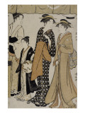 Prenant le frais &#224; Nakasu Giclee Print by Torii Kiyonaga