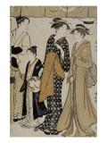 Prenant le frais à Nakasu Giclee Print by Torii Kiyonaga