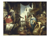 Salomon et la reine de Saba Giclée-Druck von Cornelis de Vos