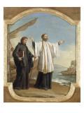 Saint François-Xavier débarquant en Chine Giclée-Druck von Joseph Marie Vien
