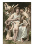 L'Assaut Giclee Print by William Adolphe Bouguereau