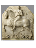 Relief : Henri IV &#224; cheval, en triomphateur romain Reproduction proc&#233;d&#233; gicl&#233;e par Mathieu Jacquet