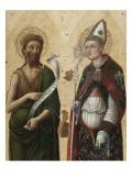Saint Jean-Baptiste et saint Louis de Toulouse Giclée-Druck von Antonio Vivarini