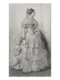 Standing Portrait of Princess Mathilde Evening Dress Giclee Print