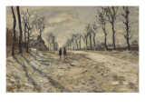 Neige au  soleil couchant Giclee Print by Claude Monet