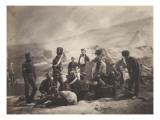 Scène d'un camp militaire pendant la guerre de Crimée : la cantine du 8ème régiment de hussards Giclee Print by Roger Fenton