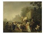 Comédiens ambulants : le théâtre de la Folie Giclee Print by Nicolas Antoine Taunay