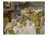 Nature morte au panier ou La Table de cuisine Lámina giclée por Paul Cézanne