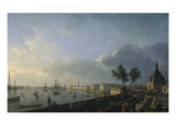 Second View of the Port of Bordeaux, Château Trumpet Giclee Print by Claude-Joseph Vernet