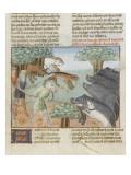 Le Livre de la chasse de Gaston Phébus : chasse aux sangliers Giclee Print