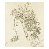 Etude pour Galatée Reproduction procédé giclée par Gustave Moreau