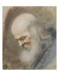 Etude d'une tête de vieillard vue de profil vers la gauche Giclée-Druck von Nicolas Vleughels