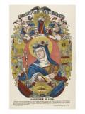 Sainte Rose de Lima Giclée-tryk