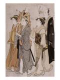 L'acteur Ichikawa Danjourô V et sa famille Giclee Print by Torii Kiyonaga