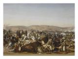 Prise de la Smala d'Abd-el-Kader par le duc d'Aumale à Taguin , le 16 mai 1843 Giclée-Druck von Horace Vernet