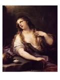Sainte Madeleine renonçant aux Vantés de ce monde Lámina giclée por Luca Giordano