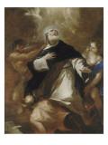 Saint Dominique s'élevant au-dessus des passions humaines Lámina giclée por Luca Giordano