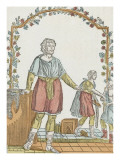 St. Crispin and St. Crispian, Patrons of Shoemakers Giclee Print