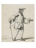 Etudes de costume de théâtre : un homme debout marchant Giclée-Druck von Francois Andre Vincent