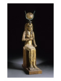 Statue of the Goddess Isis Suckling the Child Horus Impression giclée