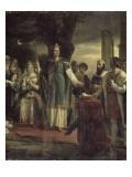 Saint Louis rendant la justice sous le chêne de Vincennes Giclee Print by Georges Rouget