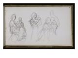 Carnet de croquis : femme avec enfant Impression giclée par William Adolphe Bouguereau