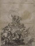 Scène de supplice : étude pour Héliodore au temple Giclée-tryk af Francesco Solimena