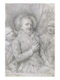 L'assassinat d'Henri IV Giclée-Druck von Georges Rouget