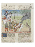 The Book of Gaston Phoebus Hunting: Hunting Wild Boar Giclee Print