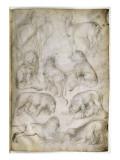 Sept lions et trois cerfs Giclee Print by Jacopo Bellini