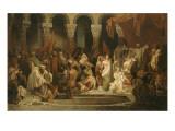 Le Baptême de Clovis Gicleetryck av Jules Rigo