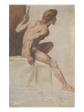 "Study for the Painting ""Moses Removing His Sandals"" Giclee Print by Gustave Moreau"
