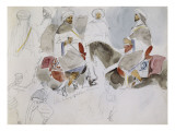 Etude de cavaliers arabes Gicl&#233;e-Druck von Eugene Delacroix