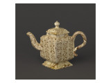 Teapot Decorated with Quadrangular Imitation Marble Giclee Print