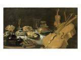 Nature morte aux instruments de musique Lámina giclée por Pieter Claesz