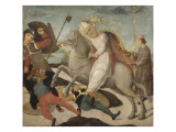 The Apparition of St. Ambrose at the Battle of Milan Giclee Print by de la Pala Sforzesca Maître