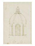 Esquisse pour un &#39;tempietto&#39; du style de Bramante Gicl&#233;e-Druck von Herman Vischer