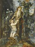 Sacrifice d'Abraham Lámina giclée por Gustave Moreau