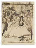 Seated Woman in an Interior, Surrounded by Characters Giclee Print by Pierre-Auguste Renoir