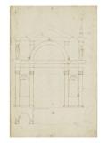Esquisse d'une arcade de palais avec grande porte Giclée-Druck von Herman Vischer
